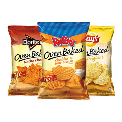Healthy oven baked chips for a snacks
